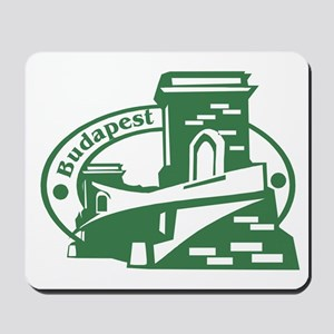 Budapest Passport Stamp Mousepad