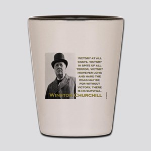 Victory At All Costs - Churchill Shot Glass