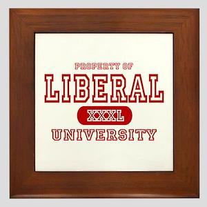 Liberal University Framed Tile