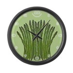 Asparagus Fan Large Wall Clock