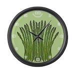 Asparagus Fan Large Wall Clock