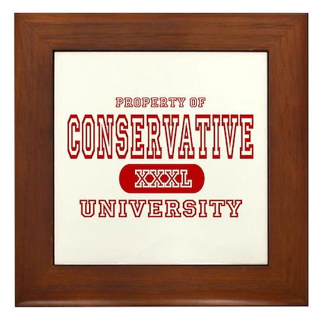 Conservative University Framed Tile