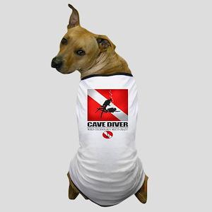 Cave Diver 2 (back) blk Dog T-Shirt