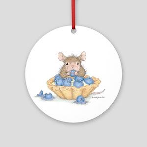 Blueberry Dessert Ornament (Round)