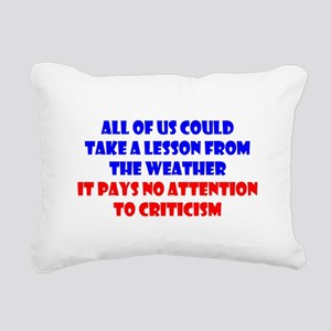 Weather Lesson Rectangular Canvas Pillow