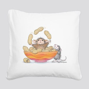 Nutty Juggler Square Canvas Pillow