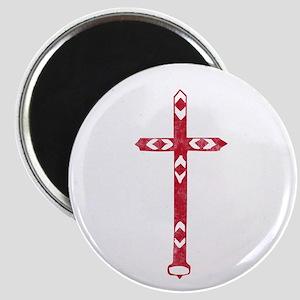 Pretty red christian cross 2 L t Magnet