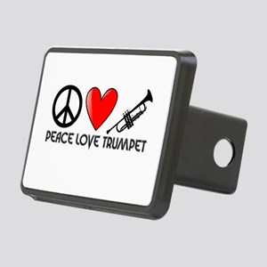 Peace, Love, Trumpet Hitch Cover