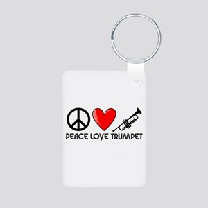 Peace, Love, Trumpet Keychains