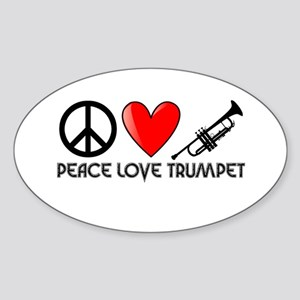 Peace, Love, Trumpet Sticker
