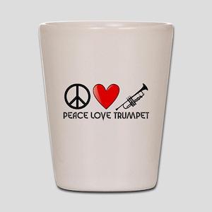 Peace, Love, Trumpet Shot Glass
