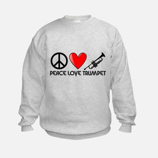 Peace, Love, Trumpet Sweatshirt