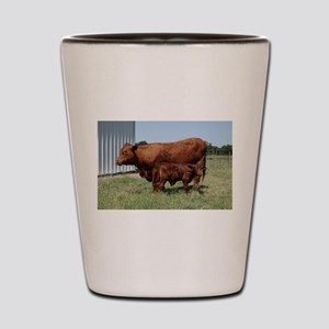 Beefmaster Cow And Calf Shot Glass
