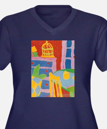 Yellow Chair and Birdcage Plus Size T-Shirt