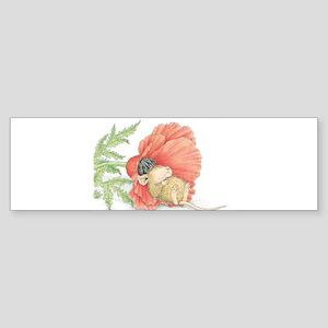 Poppy Cot Bumper Sticker