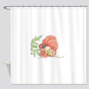 Poppy Cot Shower Curtain