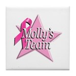 Breast Cancer Race D2 Tile Coaster