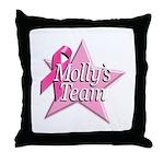 Breast Cancer Race D2 Throw Pillow
