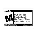 CONTENT RATING Mini Poster Print