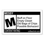 CONTENT RATING Rectangle Sticker