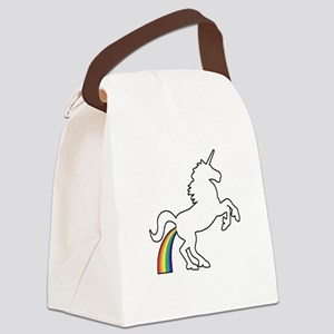 Unicorn Rainbow Poo Canvas Lunch Bag