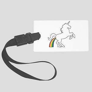 Unicorn Rainbow Poo Luggage Tag