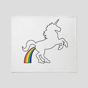 Unicorn Rainbow Poo Throw Blanket
