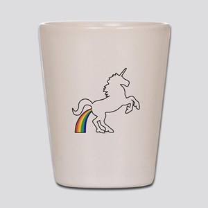 Unicorn Rainbow Poo Shot Glass