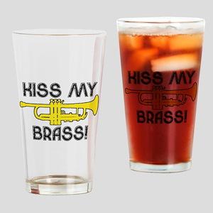 Kiss My Brass Drinking Glass
