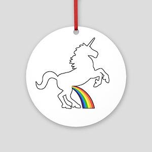 Unicorn Rainbow Wee Ornament (Round)