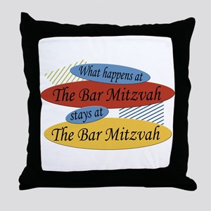 What Happens At The Bar Mitzvah Throw Pillow