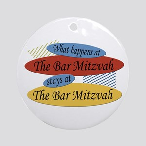 What Happens At The Bar Mitzvah Ornament (Round)