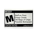 CONTENT RATING Rectangle Magnet (10 pack)