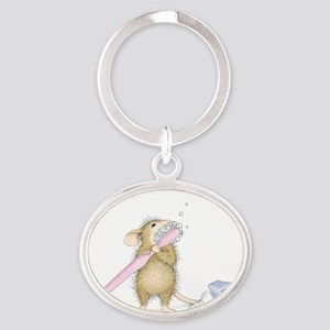 Tooth time Oval Keychain