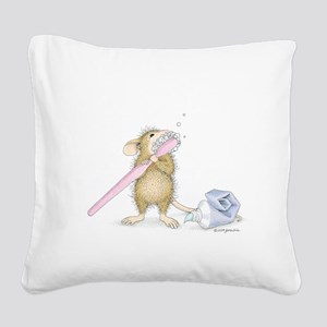 Tooth time Square Canvas Pillow