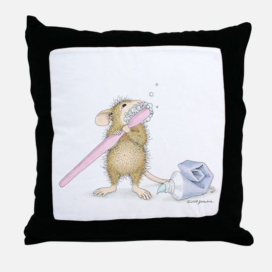 Tooth time Throw Pillow