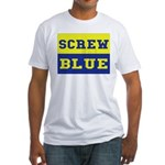 Screw Blue Fitted T-Shirt