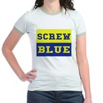 Screw Blue Jr. Ringer T-Shirt