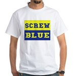Screw Blue White T-Shirt