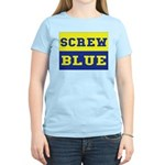 Screw Blue Women's Pink T-Shirt