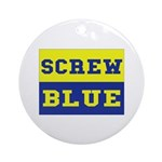 Screw Blue Ornament (Round)