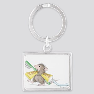 Time to brush Landscape Keychain