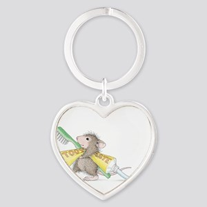 Time to brush Heart Keychain