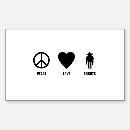 Peace Love Robots Decal