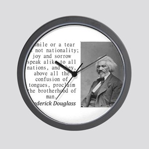 A Smile Or A Tear Wall Clock