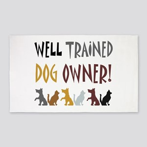 dog owner dogs_in_row 3'x5' Area Rug