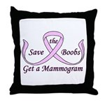 Save the Boobs Throw Pillow