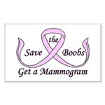 Save the Boobs Rectangle Sticker