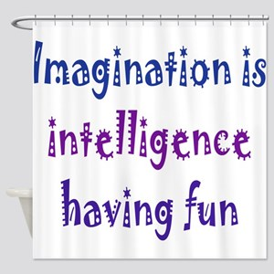 Imagination and Intelligence Shower Curtain