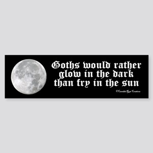 Goth Logic w/Moon Bumper Sticker